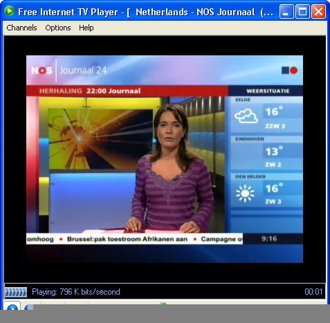 Download the latest version of Free Internet TV Player free in