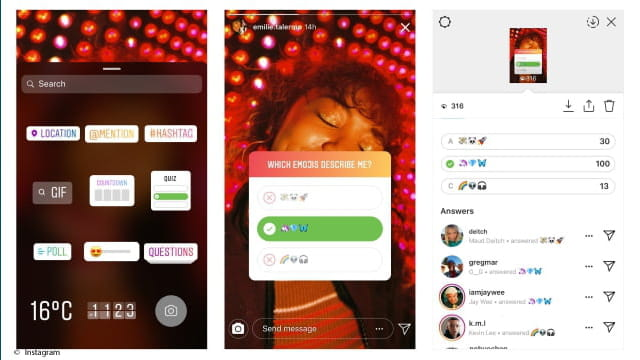 Instagram Launches Story Quiz Stickers