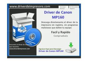 MP160 TÉLÉCHARGER PIXMA GRATUIT CANON DRIVER