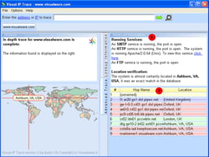 Download the latest version of Visual IP Trace free in