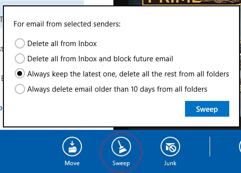 how to delete webmail messages