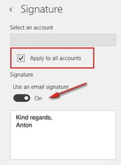 create signature in the Mail app