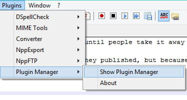 install plugin manager notepad++ 7.5.6
