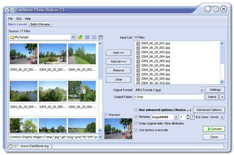 Download the latest version of FastStone Photo Resizer free