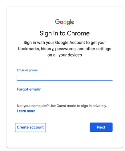 How To Create A Gmail Account Ccm