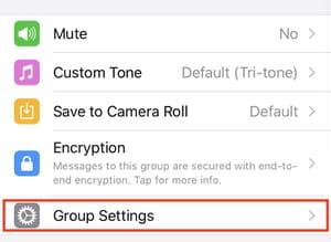 WhatsApp privacy screenshot