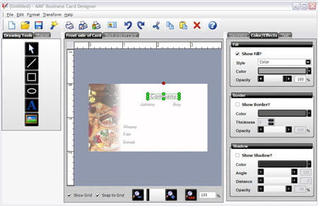 main features - Business Card Maker Software