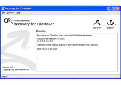 Download the latest version of Recovery for FileMaker free