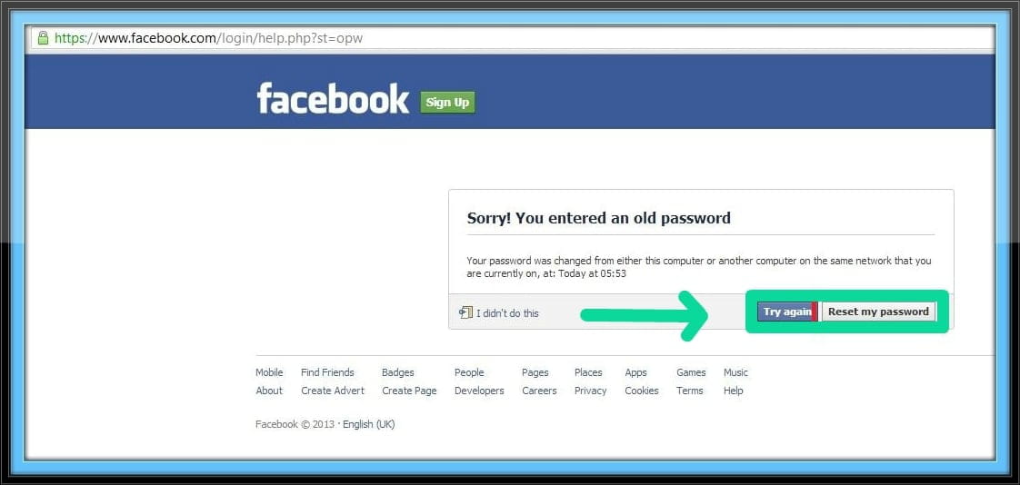 Facebook hacked and contact information changed