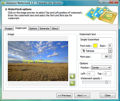 Download the latest version of Alamoon Watermark free in