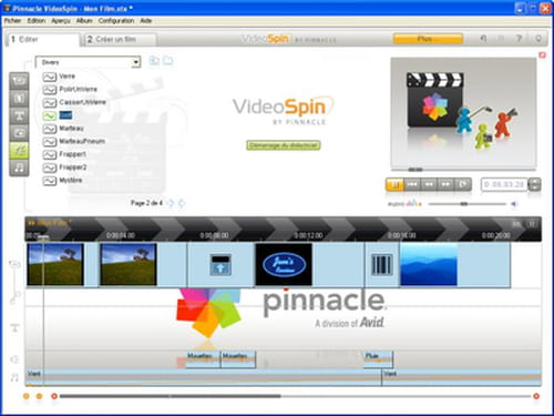 PINNACLE GRATUIT WINDOWS VIDEOSPIN XP TÉLÉCHARGER
