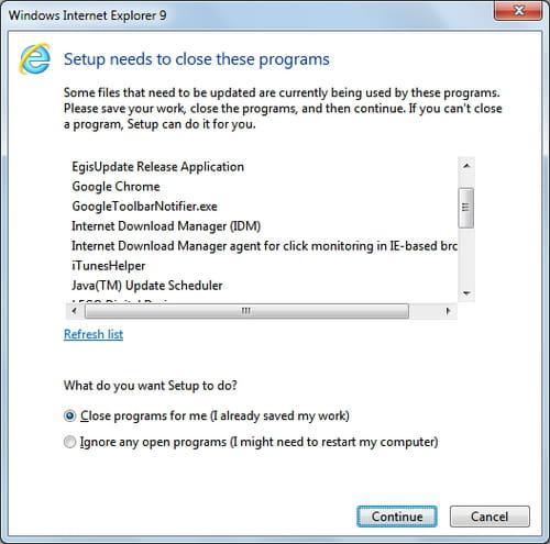 Internet Explorer 9 - Download and installation