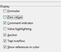 LibreOffice Calc - Automatically hide Zero values