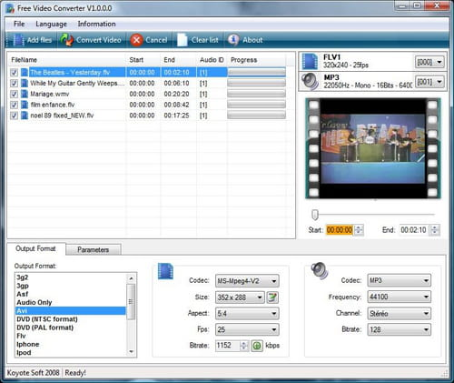 Download the latest version of Koyote Free Video Converter