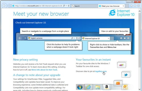 Download the latest version of Internet Explorer 10 64-bit free