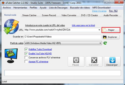 Download YouTube videos with aTube Catcher