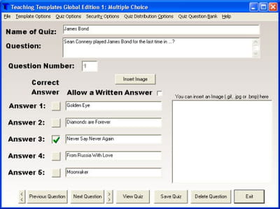 Download the latest version of Teaching Templates Quiz Maker free in