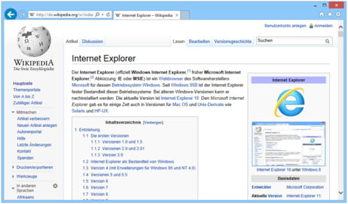 Download the latest version of Internet Explorer 8 free in