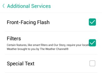 Enable Snapchat's Front Facing Flash