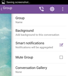 Viber - Aggregate notifications for group messages
