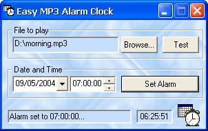 Download the latest version of Easy MP3 Alarm Clock free in