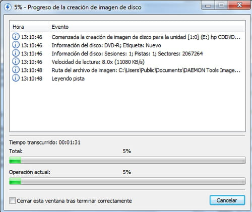 Daemon Tools Lite - Create an ISO disk image