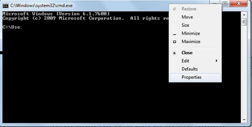 reset command prompt size