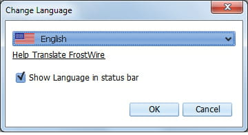 FrostWire - Change language settings