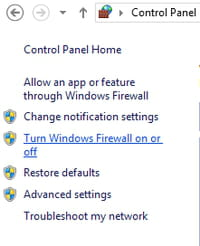 Windows 8 1 - How to disable the Firewall