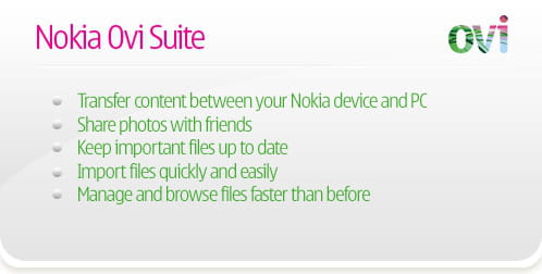 Download the latest version of Nokia Ovi Suite free in