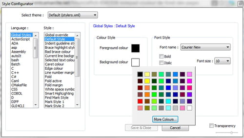 How To Change the Notepad++ Background Color