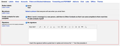 how to add an image signature in gmail