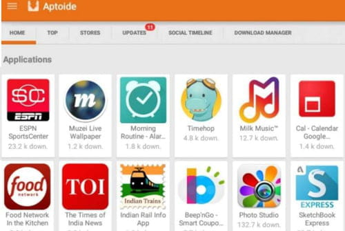 Download the latest version of Aptoide free in English on CCM
