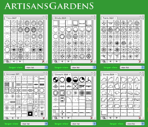 Download The Latest Version Of Artisans Landscape Design Symbols Bw