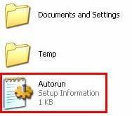 How to remove autorun inf file?