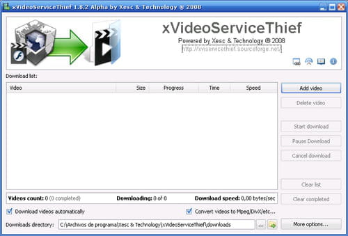 Download the latest version of xVideoServiceThief free in