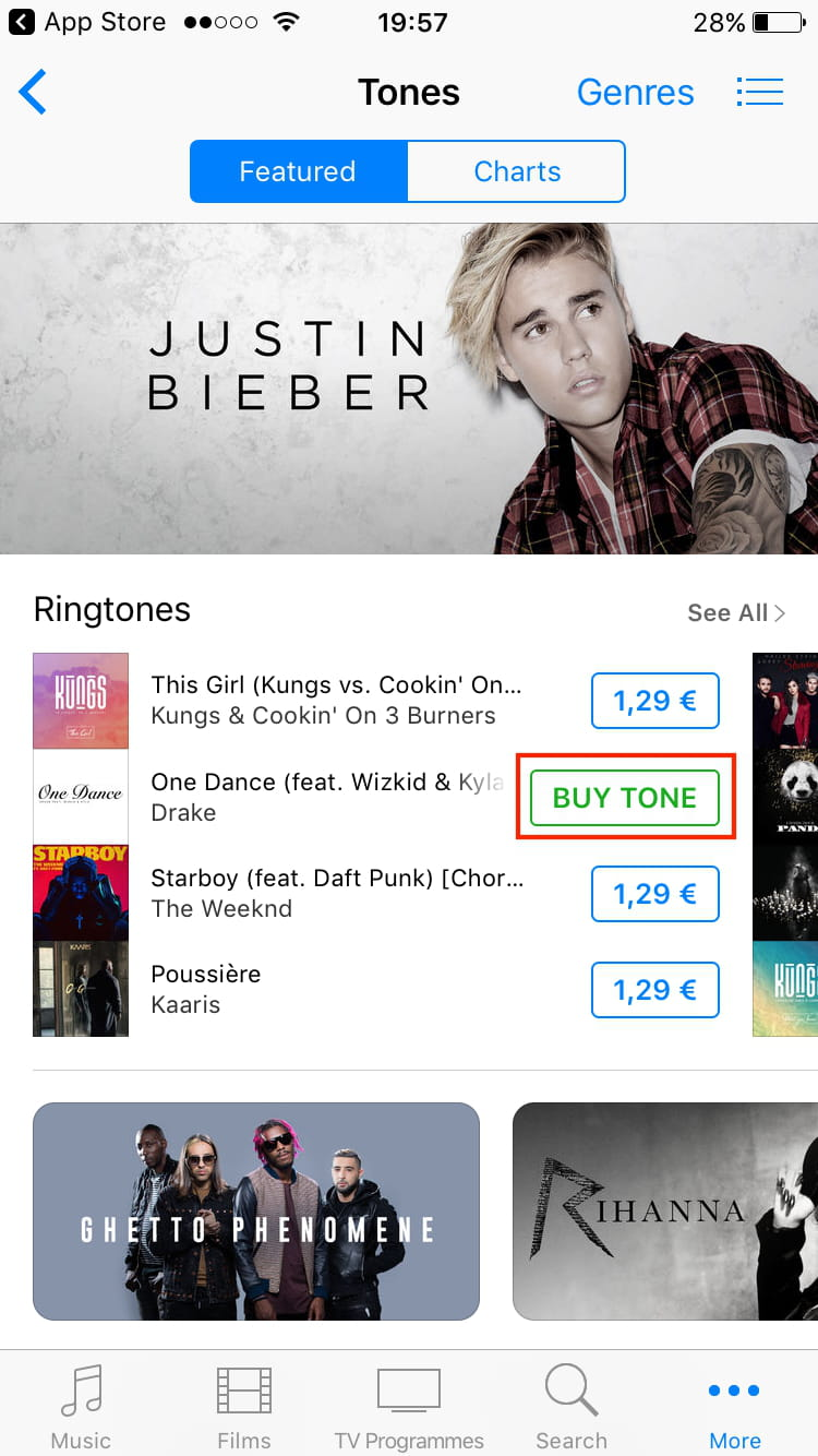 Download Ringtones for Your iPhone