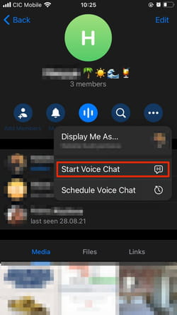 start video chat telegram
