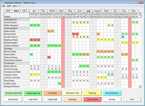 download the latest version of attendance planner free in english on ccm