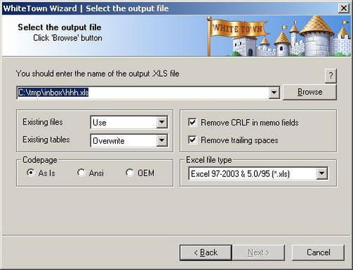 Download the latest version of DBF to Excel Converter free in