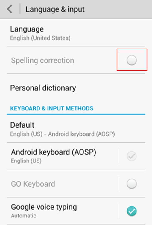 How To Turn Off Autocorrect in Android Phones