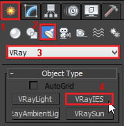 3Ds max Vray IES lights