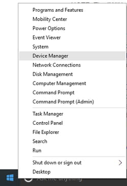 run command for device manager