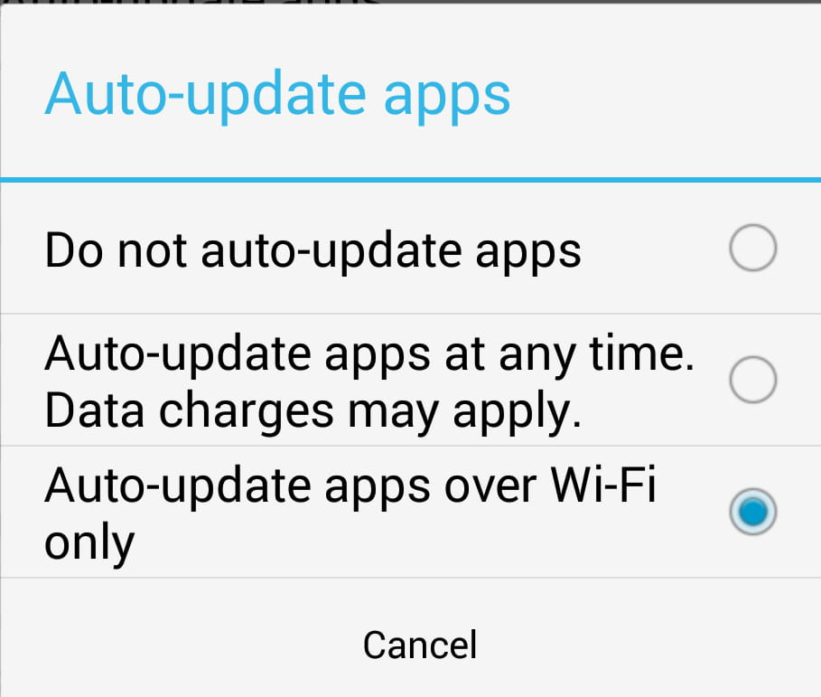 Android - How to configure the auto update settings