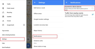 how to turn off google notifications