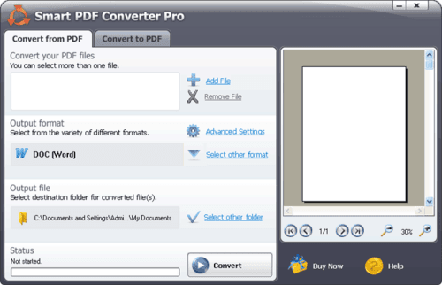 Download the latest version of Smart PDF Converter Pro free