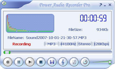 Download the latest version of Power Audio Recorder Pro free