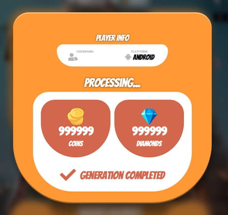 Complete free fire generator tool