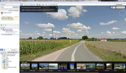 Google Earth - How to enable the Street View feature?