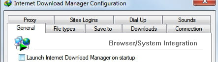Internet Download manager-IDM - Remove program at startup